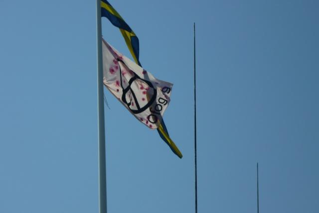 Bild på ofogflagga på flaggstång