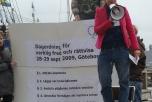 Bild på Ofogs dagordning för verklig fred och rättvisa.